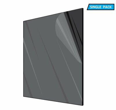 AdirOffice Plexiglass Opaque Black Acrylic Sheet 18 in- Thick 12 in- x 12 in-