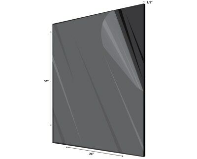 AdirOffice Black Plexiglass Opaque Acrylic Sheet 18 Thick 24 in- x 36 in-