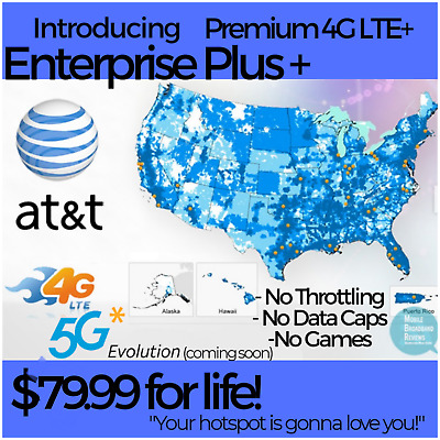ATT 4G LTE Unlimited HOTSPOT Data 69-99 UNTHROTTLED NO CAPS TRULY UNLIMITED SIM