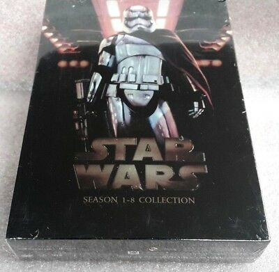 Star Wars The Complete Saga 1-8 Complete DVD Set 14 discs FREE  Shipping