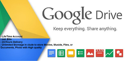 Unlimited Google Drive Lifetime Cloud Storage Account 100 Guaranteed
