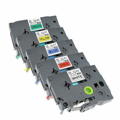 5 Colors TZe-231 431 531 631 731 Compatible Label Tape for Brother P-Touch 12mm