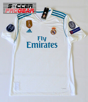 Real Madrid Home Jersey Champions League Edition 1718 White