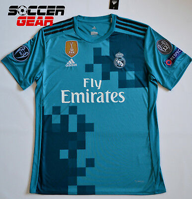 Real Madrid Third 3rd Jersey Champions League Edition 1718 Teal