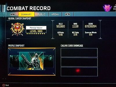 Black ops 3 ps4 account prestige master and more