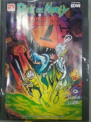 Rick And Morty Vs Dungeons And Dragons 1 Variant PAX West Signed Exclusive