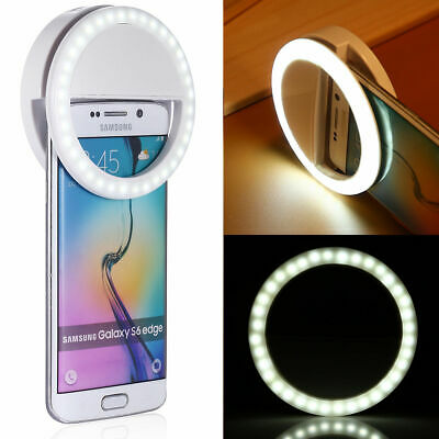 🔥Selfie Portable LED Ring Fill Light Camera Photography for Samsung S9 iPhone X