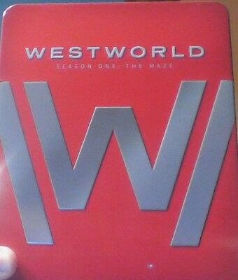 Westworld Season One The Maze on Blu ray in Limited Edition Red Tin UNPLAYED