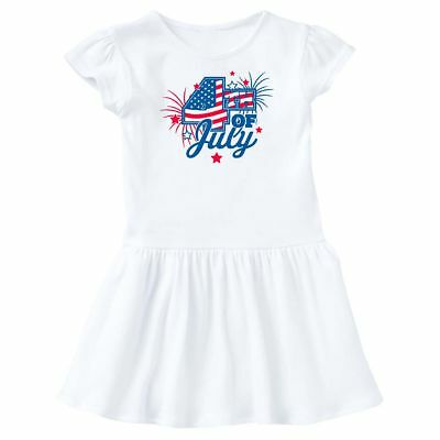 Inktastic 4th Of July With Fireworks And Stars Toddler Dress Fourth 4 Day Flag