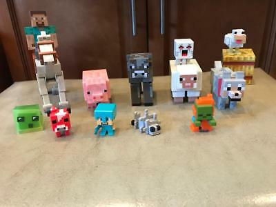 LOT OF 14 MINECRAFT FIGURES MUST SEE