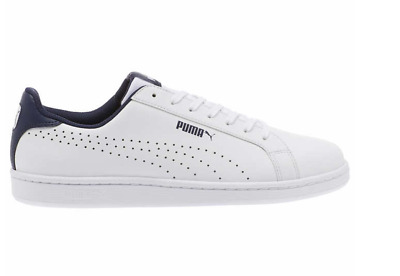 PUMA Mens Leather Sneakers Smash Perf C Athletic Tennis Shoe White Pick A Size