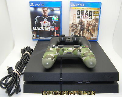 Sony Playstation 4 PS4 Model  CUH-1215A 500GB with 2 Games and 2 Controllers