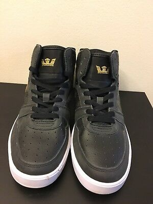 Supra Black And Gold With Snakeskin Medium Height Shoes Size 8 New-