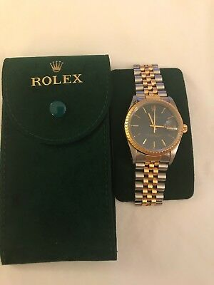 Rolex Datejust Mens Watch Jubilee Band Mint Condition Rolex Certified Gold Beze