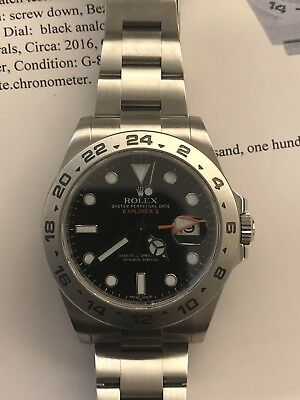 Rolex Explorer II 216570 42mm Mint Condition
