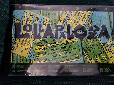 Lollapalooza ticket poster 1993