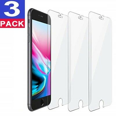 3-Pack iPhone 6  7  8 Plus Tempered GLASS Screen Protector Bubble Free