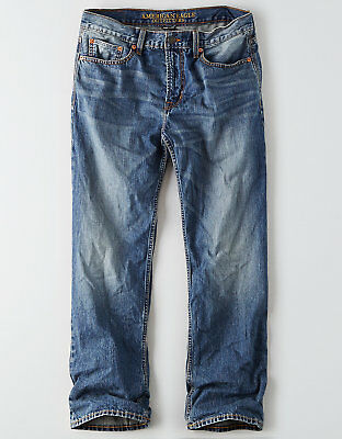 American Eagle Outfitters Mens Loose Jeans - Medium Wash - Size 38x32 NWT