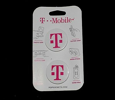 2 T-Mobile PopSockets Expanding Phone Stand - Grip for Phones Tablets - Cases