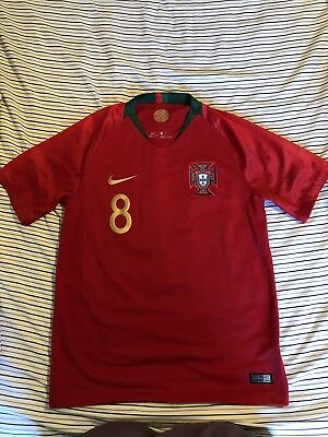 Nike Authentic Portugal World Cup Joao Moutinho Home Jersey 2018 Medium