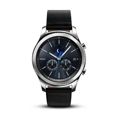 Samsung Gear S3 Classic SM-R770 Smartwatch - Black Leather w Large Band