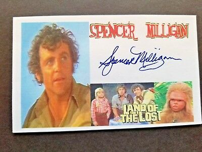 LAND OF THE LOST SPENCER MILLIGAN Autographed 3x5 Index Card
