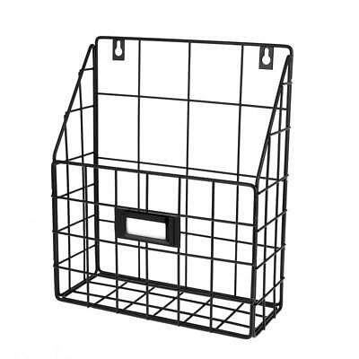 AdirHome Wall Hanging Display Organizing Rack Wire Mail Basket With 1 slot