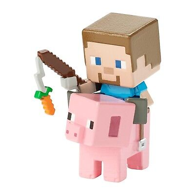 Minecraft Deluxe Steve On Saddled Pig Mini Figure NEW Toys Collectibles