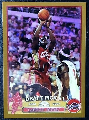 2003-04 Topps Chrome Refractor 111 Lebron James Rookie Reprint - Gold - MINT