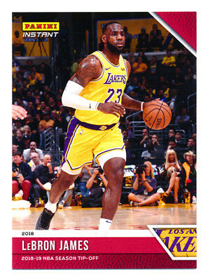 2018-19 PANINI INSTANT LEBRON JAMES 1ST LAKERS CARD SP330 LIVE - READY TO SHIP