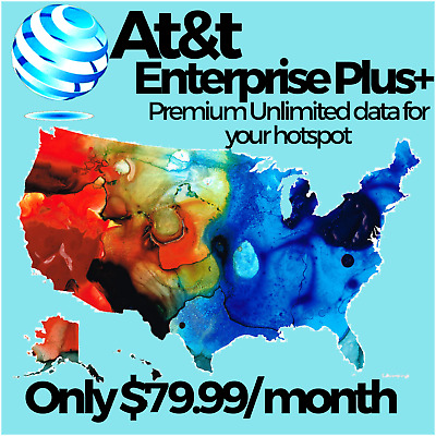 AT-T ENTERPRISE PLUS- UNLIMITED 4G LTE DATA PLAN NO THROTTLING 69-99MONTH