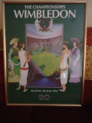 The Championships Wimbledon 1993 Poster 21 by 28 Inch Frame