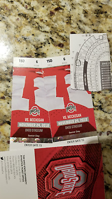OHIO STATE VS- MICHIGAN FOOTBALL  2 TICKETS SECTION 15D ROW 6 11242018