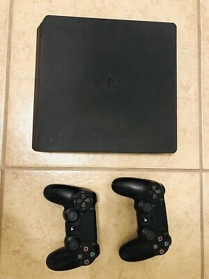 Sony PlayStation 4 500GB Black Console With two 2 controllers