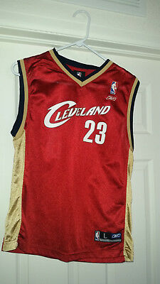 Lebron James 23 Cleveland Cavaliers L Jersey Red NBA Reebox