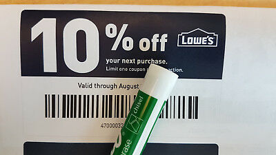 One Lowes 10 Off Online - In-Store 1Coupon  Instant delivery  Exp 053119