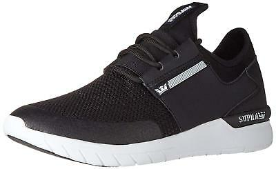 Supra Flow Run Skate Shoes Sneakers BlackWhite 08021-091