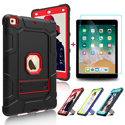 For iPad 5th6th Gen 2018 9-7 inch Tablet Stand Hard Case Cover-Screen Protector