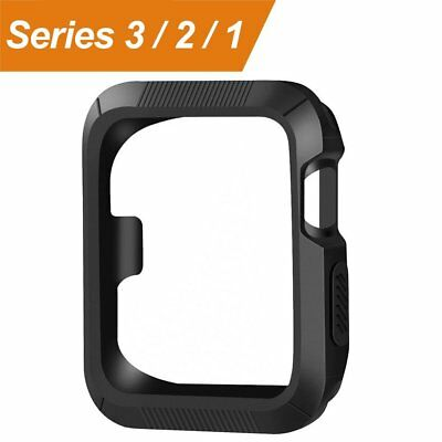 Apple Watch Case Cover Black Protector 42mm 42 mm Bumper Screen Protection Watch