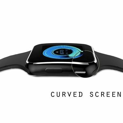 Waterproof Bluetooth Smart Watch Phone Mate For iphone IOS Android Black Gift