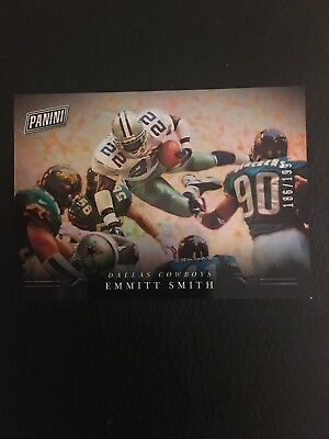 2018 Panini Football Black Friday Emmitt Smith Short Print Card 166199