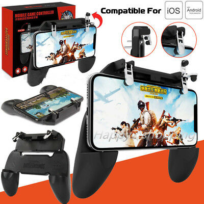 Mobile Phone Game Controller W10 Gamepad Joystick Fire Trigger For PUBG Fortnite