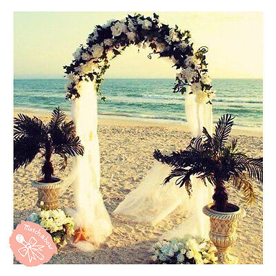 7-5 Feet White Metal Arch for Wedding Party Decoration - Free - Fast Shipping