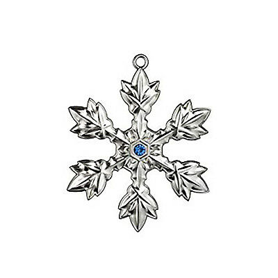 WATERFORD SIVER SNOWFLAKE ORNAMENT - BRAND NEW
