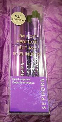 SEPHORA 5 BRUSH Collection - Canister Im Not Perfect But My Eyeliner Is PURPLE