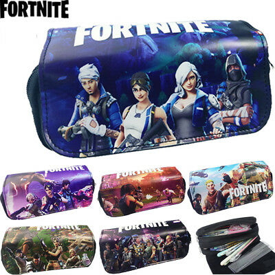 Fortnite Pencil Case Battle Royale Game School Bag Stationary Girl Makeup Pouch