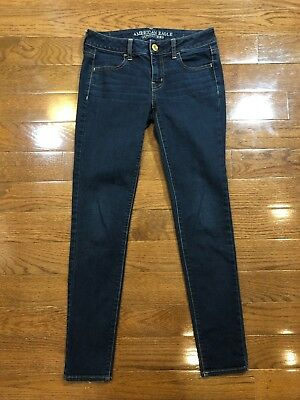 Womens Size 2 American Eagle Outfitters Jegging Jeans Dark Wash