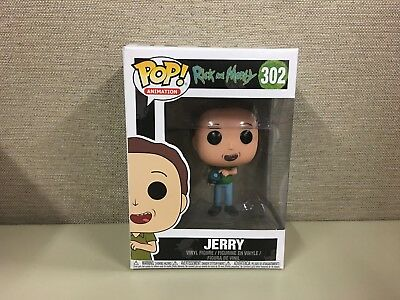 Funko Pop Animation Rick And Morty Jerry  302 Vinyl Figure New In Box