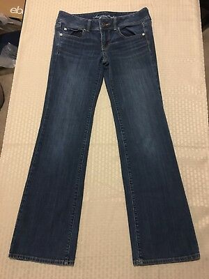 American Eagle Outfitters Woman's Super Stretch Slim Boot Blue Jeans Size 6 Reg