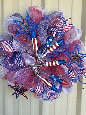 Fourth Of July Wreath Independence Day Wreath 4th Of July Wreath